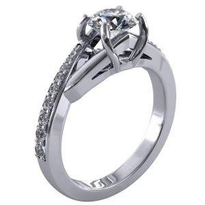 טבעת יהלום 1 קראט הלן
