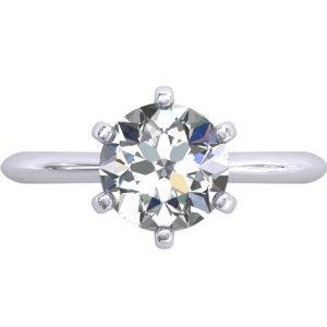 טבעת סוליטר אלה