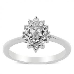 טבעת אירוסין מעוצבת דליה