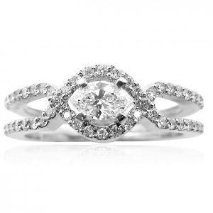 טבעת אירוסין מעוצבת אבלין