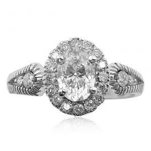 טבעת אירוסין בעיצוב מיוחד דגם אלישיה