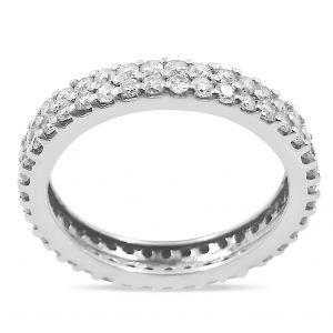 טבעת נישואין דאיאנה 3 קרט יהלומים