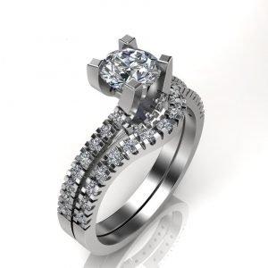 טבעת אירוסין זהב לבן מארי