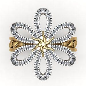 טבעת מעוצבת סאן פלאוור