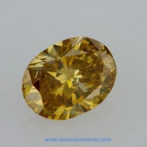 יהלום פנסי צהוב כתום 0.40 קראט