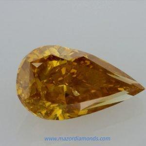 יהלום פנסי כתום צהוב 1.75 קראט