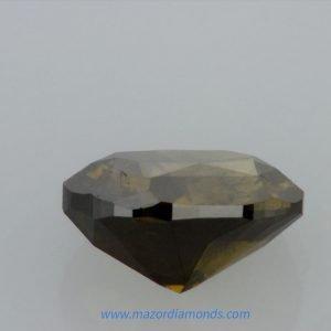 יהלום פנסי בצבע שחור ירוק 1.18 קראט