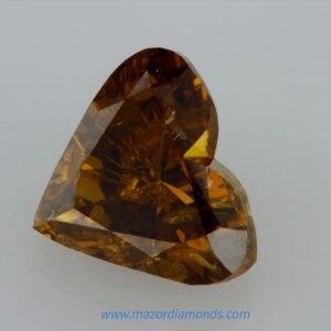יהלום לב צבע צהוב כתום 1.56 קראט