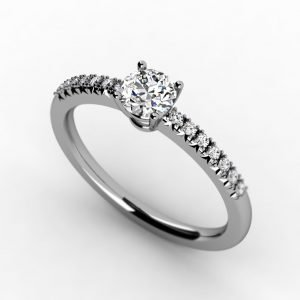 טבעת סוליטר אירוסין ייחודית ועדינה