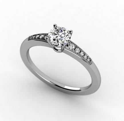 טבעת זהב עם יהלומים עדינה וייחודית