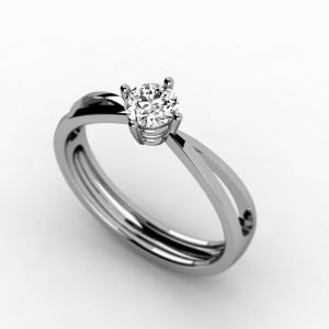 Classic Engagement Ring Center and Side Diamonds