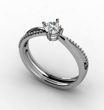 טבעת אירוסין מעוצבת וייחודית